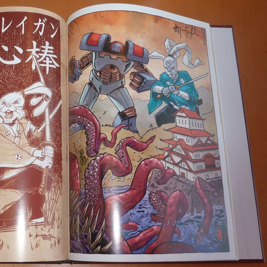 Autographs of all artist who contributed to the book attending the BCC. (28 in all) . Rich Woodall and Jason Copland shown.